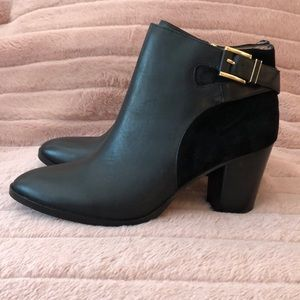 Louise et Cie Black Leather and Suede Booties